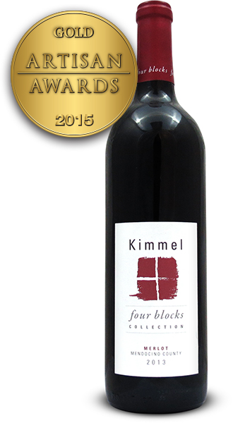 Kimmel Vineyards Merlot Four Block Mendocino 2013