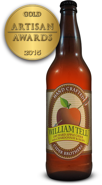 William Tell Hard Apple Cider with Chardonnay Hops