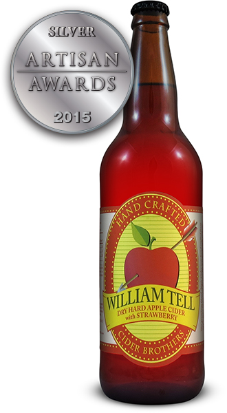 William Tell Hard Apple Cider with Strawberry