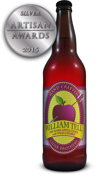 William Tell Hard Apple Cider with Wild Cherry